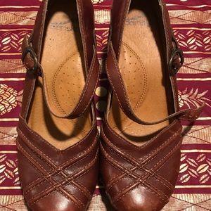 A pair of Dansko heels